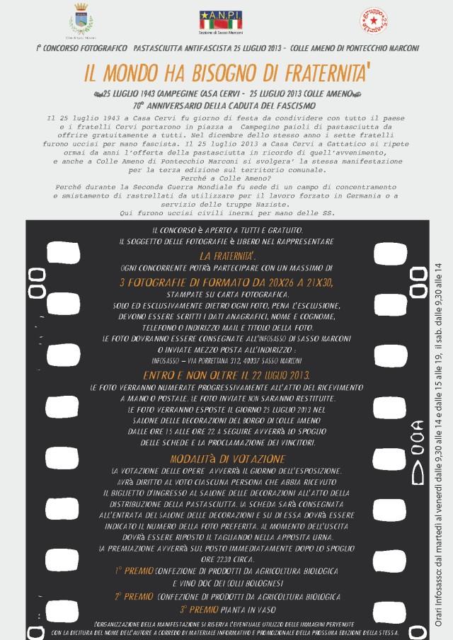 Volantino concorso fotografico 25 luglio 2013